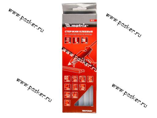 Клей - стержень для пистолета 11мм L200мм прозрачный 6шт Matrix 930720