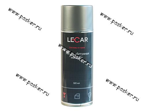 Антикоррозийная Мастика LECAR 520мл резинобитумная аэрозольная