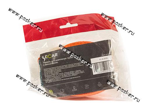 Крепеж груза Ремень с фиксатором 4м х 25мм LECAR