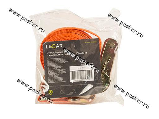 Крепеж груза Ремень стяжка  4м х 25мм 0,2/0,4т LECAR