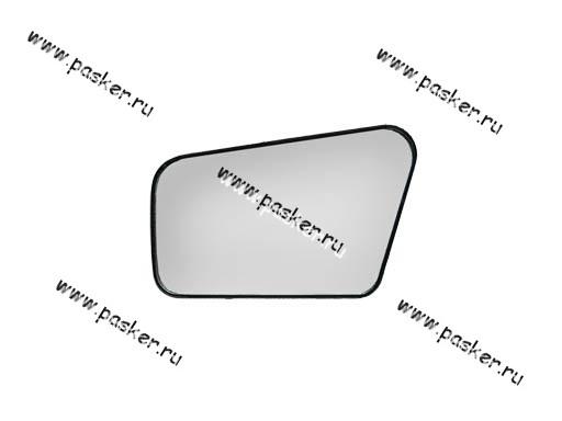 Зеркальный эл-т 2108-099 левый с рамкой
