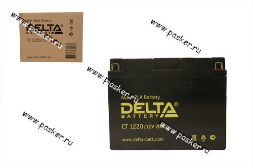 Аккумулятор DELTA MOTO CT 1220  205x90x164 обр/п с/эл Y50-N18L-A Y50-N18L-A3 YTX24HL-BS