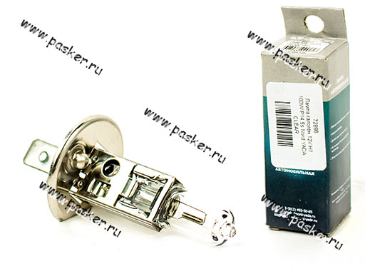 Лампа галоген 12V H1 100W P14.5s Nord YADA CLEAR