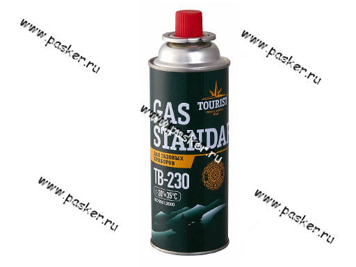 Баллон газовый пропанбутановый 220гр цанговый Стандарт до -20