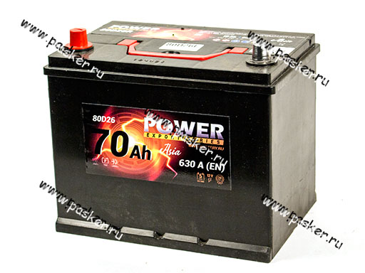 Аккумулятор POWER 75Ач EN690 ASIA 261х175х220 обр/п 80/85D26L