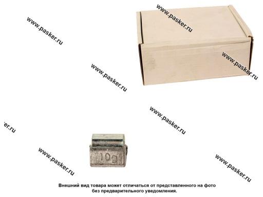Грузик балансировочный 10гр NORM для литого диска со скобой 100шт