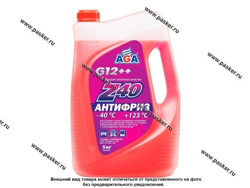 Антифриз AGA-40 002Z 5кг красный