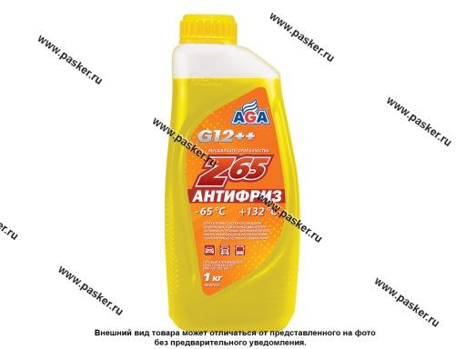 Антифриз AGA-65 042Z 1кг желтый