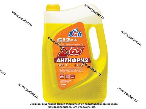 Антифриз AGA-65 043Z 5кг желтый