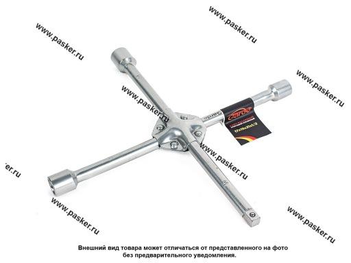 Ключ баллонный крестовой 17х19х21х1/2 под квадрат усиленный Garde KB1404