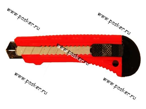 Нож для бумаги картона с выдвижным лезвием 18мм металлическая направляющая Matrix 78918