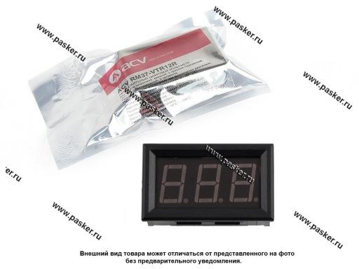 Вольтметр ACV RM37-VTR12R красная подсветка