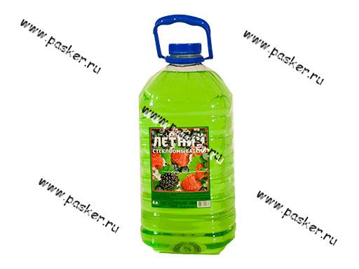 Жидкость стеклоомывающая ALFA 4л летняя упаковка ПЭТ
