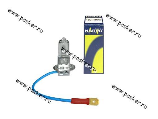 Лампа галоген 12V H3 100W Pk22s NARVA 48351