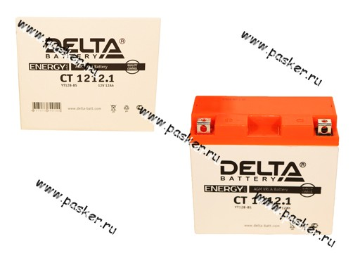 Аккумулятор DELTA MOTO CT 1212,1 151x70x131 с/эл YT12B-BS