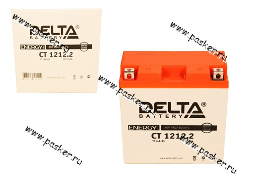 Аккумулятор DELTA MOTO CT 1212,2 152x70x150 с/эл YT14B-BS
