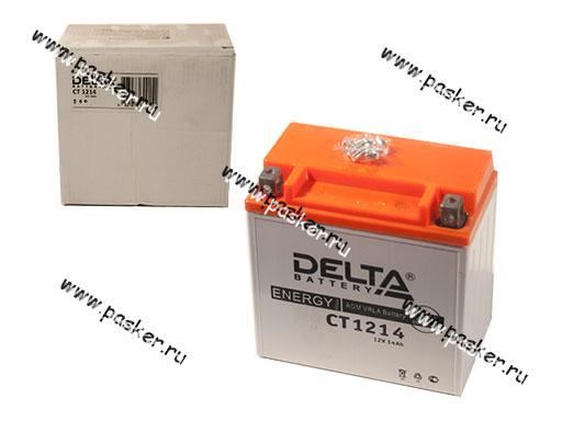 Аккумулятор DELTA MOTO CT 1214 150x87x148 с/эл YTX14-BS