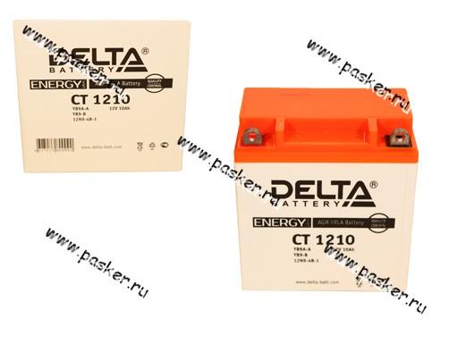 Аккумулятор DELTA MOTO CT 1210 137x77x138 с/эл YB9A-A YB9-B